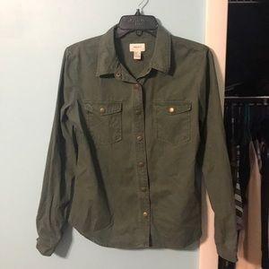 FOREVER 21 Green Utility Shirt